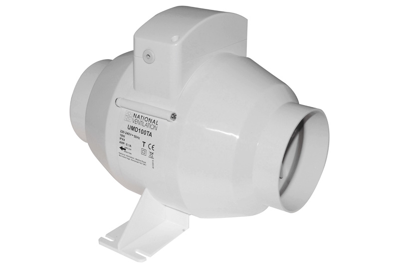 National Ventilation Mixed Flow Inline Extractor Fans