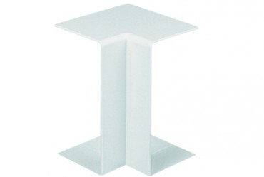 Image for Marshall Tufflex Maxi Trunking TIAS50C 50X50mm Internal Angle Clip On White