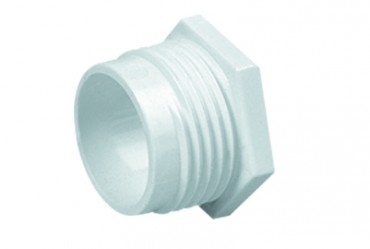Image for Marshall Tufflex MMB2 20mm Plastic PVC Male Bush Screwed White