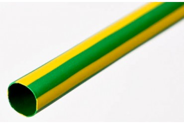 Image for SWA Heatshrink SG6CTN-GY 6mm Diameter Over Sleeving 1Mtr Tube Green and Yellow