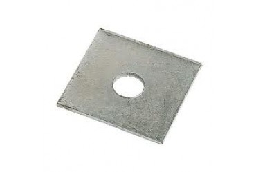 Image for Deligo Channel Unistrut Flat Square Plate 1 Hole 8mm