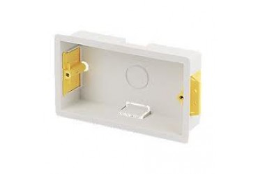 Image for Niglon Dry Lining Box 2 Gang 35mm Deep for Plasterboard