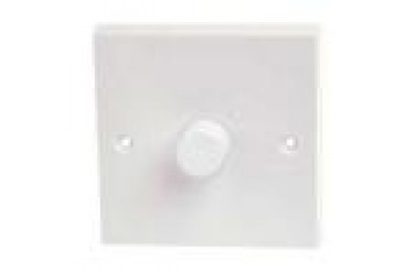Image for Hamilton White Plastic KP1X40 Push Dimmer Switch 400W 1 Gang