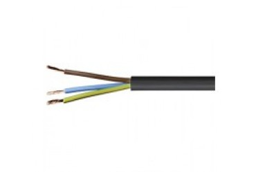 Image for Cable 3183Y 0.75mm 3 Core Pvc Flex Black 1 Metre
