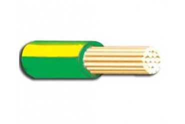Image for Cable 6491B 10mm Single Stranded LSF Green and Yellow Per Metre