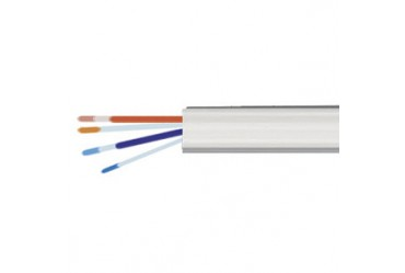 Image for Cable Telephone 2 Pair 4 Core White Per 100 Metre Drum