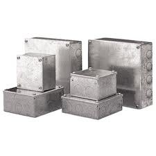 Metal Adaptable Box without Knockouts 50x50x100mm Galvanised