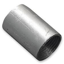 2 Inch Metal Coupler Solid Galvanised Each