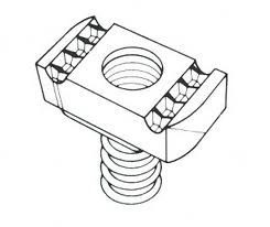 M10 10mm Long Spring Channel Nut Each