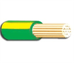 6491X 10mm PVC Single Core Green/Yellow Earth Cable 1M