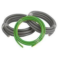 Cable Double Insulated Tails Pack 3 Metres of 25mm Brown 25mm Blue and 16mm Green and Yellow Earth