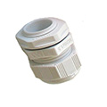 SWA Cable Dome Gland 25mm IP68 Polyamide with Locknut White