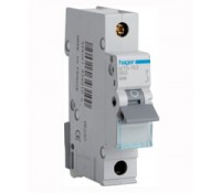Image for Hager NBN106 Type B 1 Module Single Pole 6A 10Ka Miniature Circuit Breaker MCB