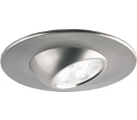 Image for Collingwood Lighting Halers H4 Range DL185BSWWDIM Brushed Steel Eyeball Adjustable fire rated LED down light Warm White