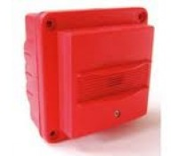 Image for C-Tec Two Wire Fire Alarm Sounder IP55 Red Waterproof Twinflex