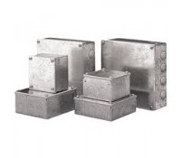 Image for Niglon Metal Adaptable Box 150X150X100mm Galvanised Finish with Knockouts