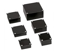 Image for Niglon Metal Adaptable Box 100X100X50 Black Enamel Finish with Knockouts