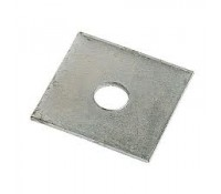 Image for Deligo Channel Unistrut Flat Square Plate 1 Hole 10mm