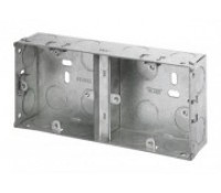 Image for Niglon Dual Flush Metal Box 35mm Deep for Switches and Sockets