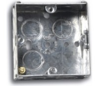 Image for Niglon Flush Metal Box 1 Gang 25mm Deep for Switches and Sockets