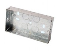 Image for Niglon Flush Metal Box 2 Gang 35mm Deep for Switches and Sockets