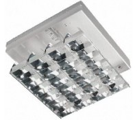 Image for Crompton Lighting 600x600mm Modular Fitting and CAT2 Louvre 4x 18W T8 Lamps High Frequency