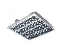 Image for Crompton Lighting 600x600mm Modular Fitting and CAT2 Louvre 4x 18W T8 Lamps High Frequency Emergency