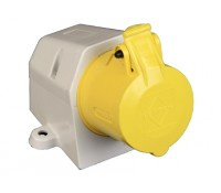 Image for Lewden PM16/540N Yellow Socket 16A 110V 2P+E IP44