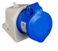 Image for Lewden PM32/541N Blue Socket 32A 240V 2P+E IP44