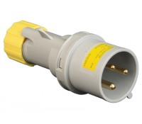 Image for Lewden PM32/1000FP Yellow Plug 32A 2P+E 110V IP44