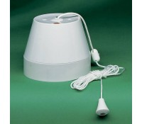 Image for Crabtree Capital 2167 Ceiling Switch Pull Cord 50A Double Pole White Moulded