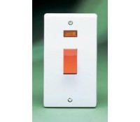 Image for Crabtree Capital 4500/3 Cooker Switch 50A Double Pole with Neon White Moulded