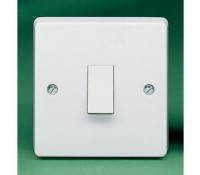 Image for Crabtree Capital 4171 Switch 6A 1 Gang  1 Way Double Pole White Moulded