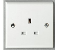 Image for Deta Slimline S1206 Socket 1x 13A Unswitched White