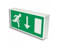 Image for Crompton Lighting Emergency Man Running Down Arrow Legend to fit AVEX8NM