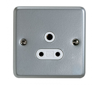 Image for MK Metalclad Plus K842ALM 5A 1 Gang Round Pin Socket