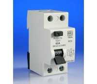Image for MK Sentry 7860S RCD Double Pole 2 Module 63A 230V 30mA Tripping