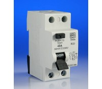 Image for MK Sentry 7840S RCD Double Pole 2 Module 40A 230V 30mA Tripping