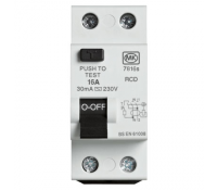 Image for MK Sentry 7816S RCD Double Pole 2 Module 16A 230V 30mA Tripping