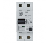 Image for MK Sentry 6316S RCD Double Pole 2 Module 16A 230V 10mA Tripping