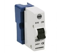 Image for Wylex Standard Range B16 16A MCB Single Pole Blue Shield or Base