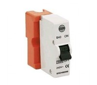Image for Wylex Standard Range B40 40A MCB Single Pole Orange Shield or Base