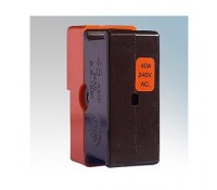 Image for Wylex Standard Range C40 40A HRC Fuse Carrier And Orange Shield