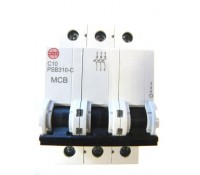 Image for Wylex NH Distribution Range PSB310-C MCB Triple Pole 10A 10kA Type C Curve
