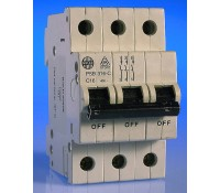 Image for Wylex NH Distribution Range PSB316-C MCB Triple Pole 16A 10kA Type C Curve