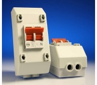 Image for Wylex Isolator Range REC2S 100A Double Pole Isolator with 4 Module Slimline Enclosure