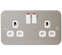 Image for BG Electrical Nexus Metal Clad MC522 2 Gang 13 Amp Switched Socket Outlet