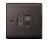 Image for BG Electrical Nexus Metal NBN53 13A Switched Fused Connection Unit With Neon And Cable Outlet Black Nickel