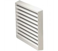 """Image for Greenwood Airvac External Grille EG2W 6"""" 150mm Fixed Blade Louvred White"""
