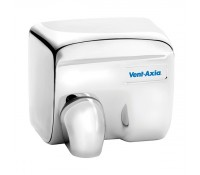 Image for Vent Axia Turbodry Range Chrome Automatic Handryer 2.4kW IP23 Push button Robust Steel 435430